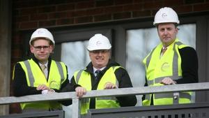 Jason Murphy (Centrus), John Hannigan (Circle VHA) and Stuart Muldowney (AIB) at Muileann Close in Swords Co Dublin