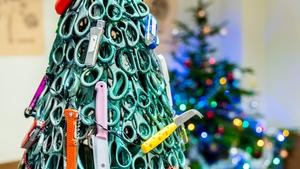 A Christmas tree with a twist