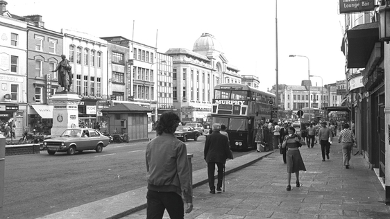 Pedestrians on St Patrick's Street, Cork city in 1974