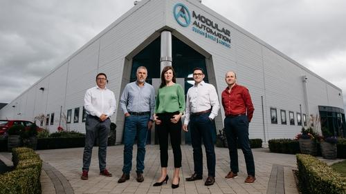 Modular Automation's management team, including CEO Vivian Farrell