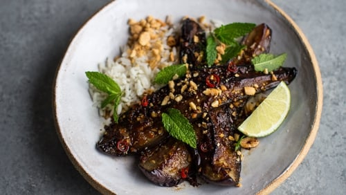 You really won't miss the meat at all in this filling bowl of super-tender aubergines in a rich sticky sauce.