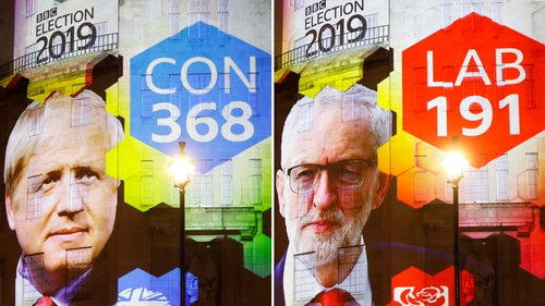 The exit poll showed Conservatives would win 368 seats, enough for a comfortable outright majority in the 650-seat parliament
