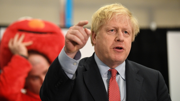 Prime Minister Boris Johnson giving his victory speech after winning the Uxbridge & Ruislip South seat