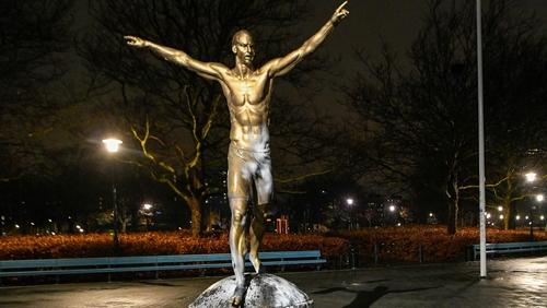 The Zlatan Ibrahimovic statue in Malmo