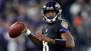Lamar Jackson finished with eight carries for 86 yards and improved his season total to 1103 - 64 more than Vick's mark of 1039, which he set in 2006.