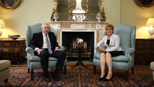 British Prime Minister Boris Johnson and Scotland's First Minister Nicola Sturgeon (File pic)