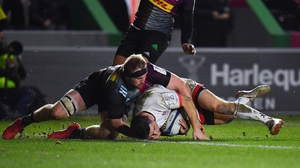 John Cooney touches down for Ulster's first try