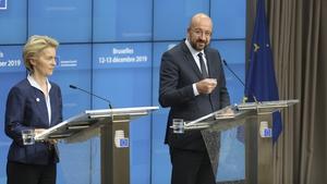Ursula von der Leyen and Charles Michel made the remarks at the European Union