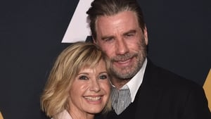 Olivia Newton John and John Travolta pictured last year at 49th anniversary