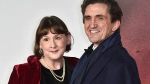 Heidi Thomas and husband Stephen McGann