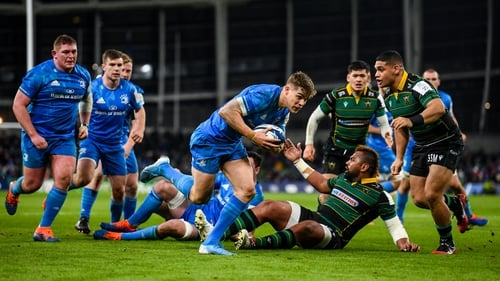 Garry Ringrose with Leinster's third try