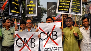 Demonstrators protest against the Citizenship (Amendment) Bill or CAB
