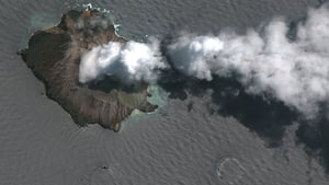 'After eruption' satellite imagery of the White Island Volcano (pic: Maxar Technologies)