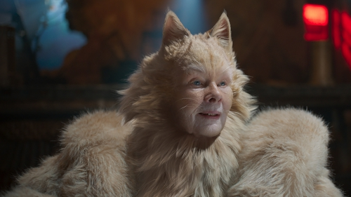 Dench as Old Deuteronomy in the ill-fated Cats