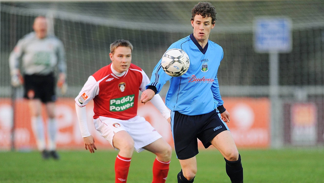 Image - Purcell in UCD colours against ST Patrick's Athletic in 2008