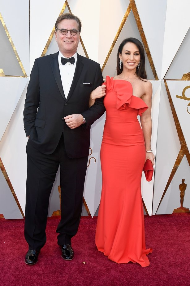 Aaron Sorkin (L)and Molly Bloom attend the 90th Annual Academy Awards