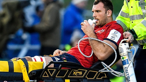 Tadhg Beirne fractured his ankle in Munster's loss against Saracens