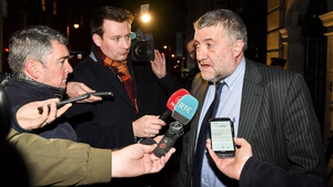 FAI executive lead Paul Cooke speaks to reporters after tonight's meeting