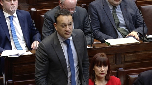 """The Taoiseach claimed there was what he termed """"a cloud of suspicion"""" hanging over three Fianna Fáil TDs and a Senator"""
