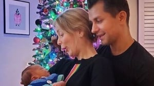 Rachel Riley and Pasha Kovalev have received the best Christmas present Image: Instagram/rachelrileyrr