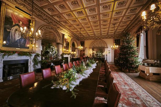 Belvoir Castle dining room