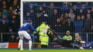 Schmeichel saved two penalties during the shoot-out