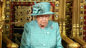 Queen Elizabeth in the chamber for the state opening of Parliament