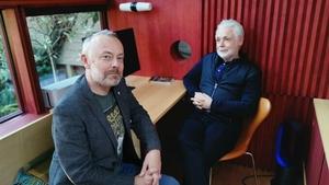 Book Show host Rick O'Shea with author Eoin Colfer