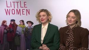 Greta Gerwig with Saoirse Ronan