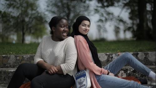 Natasha (L) with Minahil.