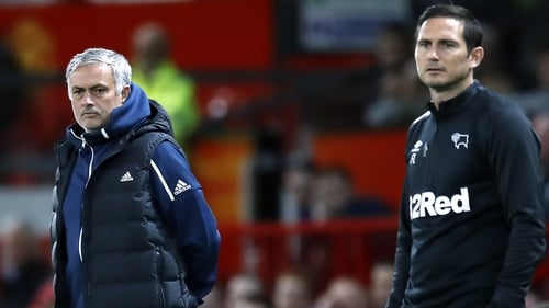 Mourinho and Lampard faced off last season when in charge of Manchester United and Derby respectively