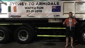 The Irish community organised a similar water run last month