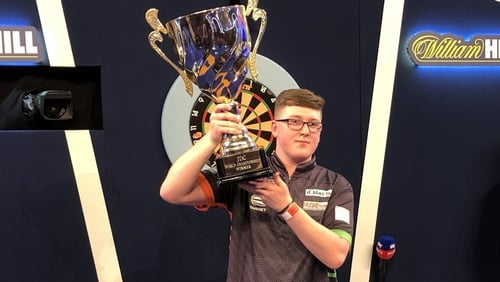 Keane Barry ended 2019 in style by being crowned Junior World Darts champion
