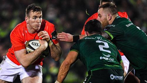Chris Farrell charges forward against Connacht