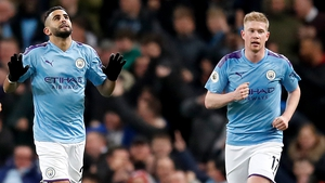 Manchester City's Riyad Mahrez and Kevin De Bruyne dictated the tempo of the game at the Etihad