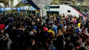 Train operator SNCF warned traffic would be 'severely disrupted over the festive period