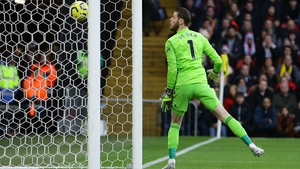 David de Gea looks on as his blunder results in Watford taking the lead