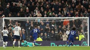 Willian sends Kepa Arrizabalaga the wrong way to give the Blues a two-goal buffer