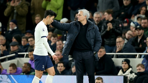 Heung-min wasn't happy with the decision