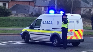 The scene on the Carrickphierish Road is currently sealed off for examination