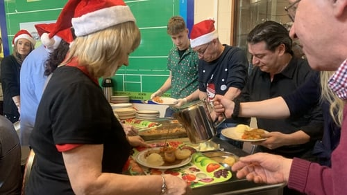 The annual dinner is funded by the local community and has been held every Christmas Day for the last 33 years