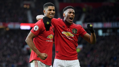 Rashford and Martial were both among the goals against Newcastle United