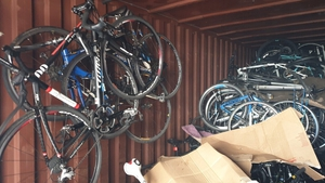 Dinas Bimbiras was charged with possessing 116 stolen bicycles and a boat engine