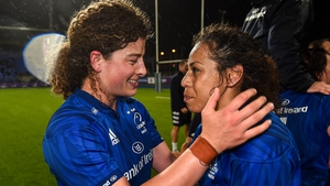 Jenny Murphy (L) and Sene Naoupu start at Twickenham