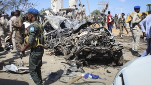 The blast left the wreckage of surrounding vehicles at the busy checkpoint and crossroads