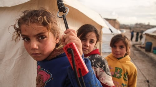 Most of the people forced to flee are women and children