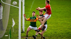 Damien Gore of Cork scores his side's third goal against Kerry