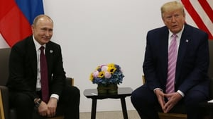 Vladimir Putin and Donald Trump at the G20 submit in June
