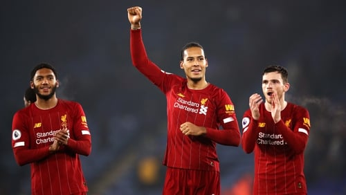 Liverpool are two wins away from a claiming a first title in 30 years