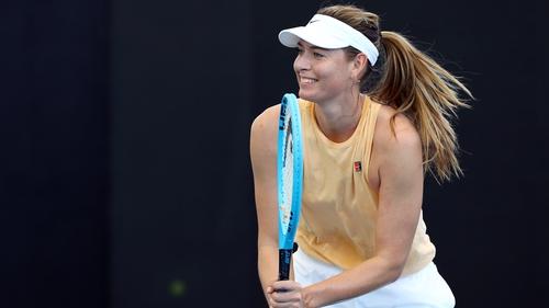 Sharapova returns to action in Brisbane